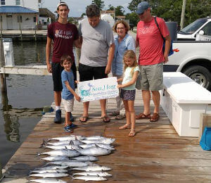 Great catch of king mackerel, wahoo and tuna on an intermediate charter.